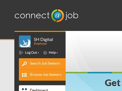 Connect a Job employment website branding navigation job boards