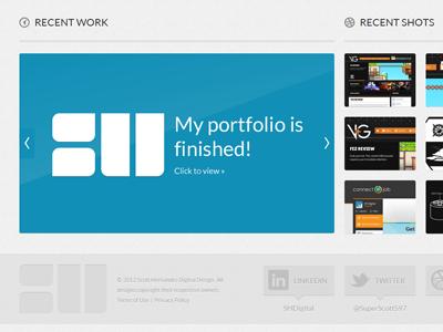 SHDD Folio Launch web design portfolio folio launch website branding