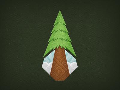 Rare Honor Illustration WIP logo illustration tree sequoia nature brand identity