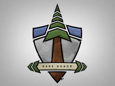 Rare Honor Logo Illustration v2 logo illustration brand identity nature sequoia tree