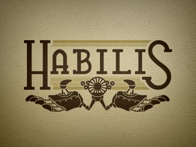 Habilis logo steampunk colors