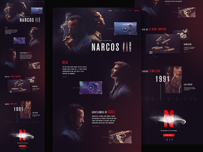 Narcos site layout responsive design webdesign ui design asset creation creative design narcos netflix