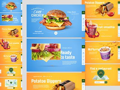 McDonald's Homestyle site homestyle crispy chicken mcdonalds image manipulation web design ui design responsive design layout creative design asset creation