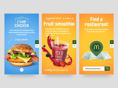 McDonald's Homestyle mobile site mcdonalds homestyle crispy chicken image manipulation web design ui design responsive design layout creative design asset creation