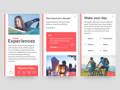Airbnb Experiences mobile site