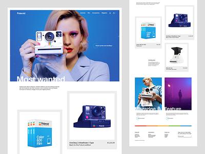 Polaroid site cameras ecommerce polaroid image manipulation asset creation web design ui design responsive design layout creative design