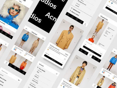 Acne Studios iOS app minimal clean mobile ui mobile app fashion acne studios mobile design layout