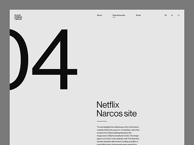 Clock Strikes Twelve portfolio minimalism swiss design ui design responsive design asset creation web design layout creative design