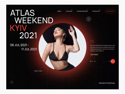 Music Festival Website Concept video tickets ticket music minimal layout grid ae typography aftereffects animation ux concept website uxui design ui