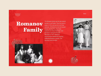 Website. History Of The Romanovs minimal book news interface magazine journal history layout grid branding typography aftereffects animation concept website uxui design ui