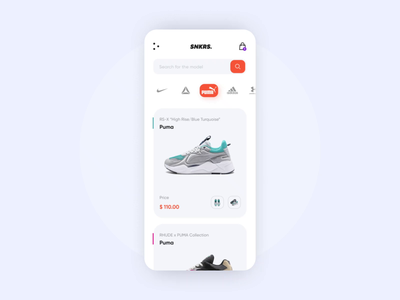 Sneakers Online Store App sneakers ecommerce ae animations microinteraction iosapp mobile app mobile ui aftereffects animation concept uxui design ui