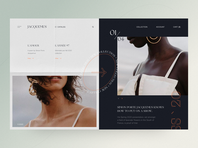 Simon Porte Jacquemus Website layout minimal book fashion design fashion ux website concept uxui design ui
