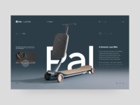 PAL - Smart Scooter Concept minimal grid layout ecommerce landing branding typography ux website concept uxui design ui