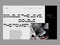 Bulling Social Website landing page sales page promotion typography ux website concept uxui design ui