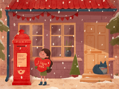 Valentine's Day ❤️ procreate snowflake winter dribbbleweeklywarmup valentines day valentine branding character vector concept illustration design ui
