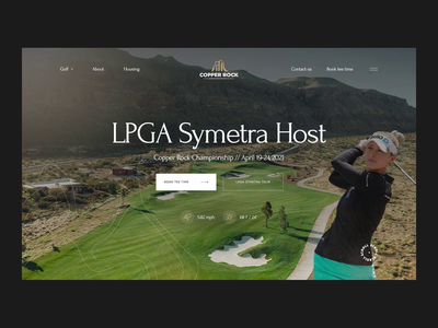 Copper Rock Golf Course realestate luxury villa travel golf promo website promo corporate website corporate layout grid typography aftereffects animation website ux uxui ui