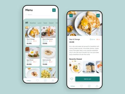 Restaurant menu mobile app