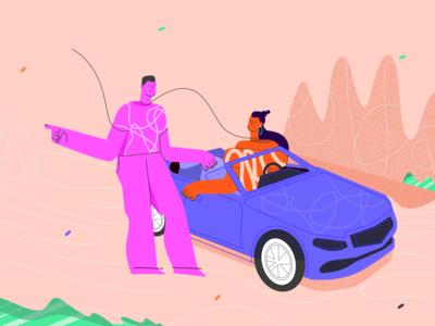 Driving test preparation illustration
