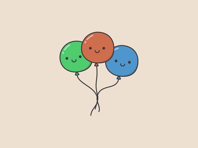 Cute Balloons app web vector illustration icon ui design website web design ui design