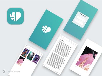 Social entrepreneur reader book minimal symbol samadaraginige screen app icon pictogram logo business brain heart cause entrepreneur social socialentrepreneur simple
