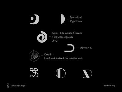 D/DS Monogram samadara branding verbicon typography monogram logo mark minimal letter simple