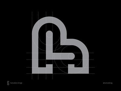 h and L monogram decor love home hl samadaraginige clever line typography monogram logo mark minimal letter simple