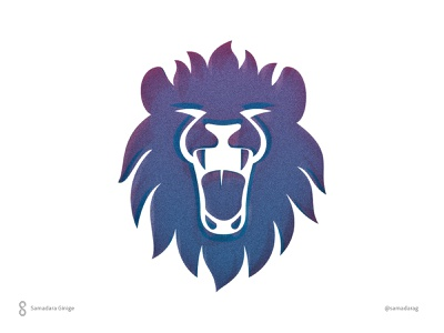 Roar logo minimal design illustration samadaraginige draw simple animal face leader wild king lion roar