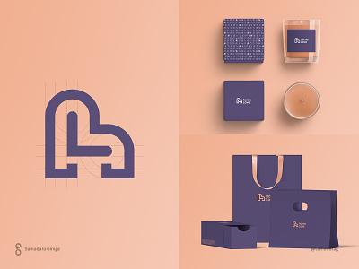 Home Love Logo and Brand Identity branding line monogram samadaraginige furniture minimal simple logo identity brand hl accessories decor love home