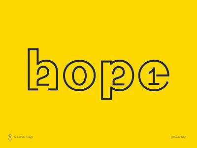 Happy 2021 better hopeful samadaraginige letter design simple wordmark typography 2021 year2021 hope