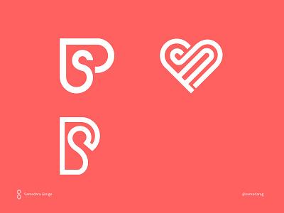 SP Monograms samadaraginige samadara line logo minimal letter design mark simple monogram sp