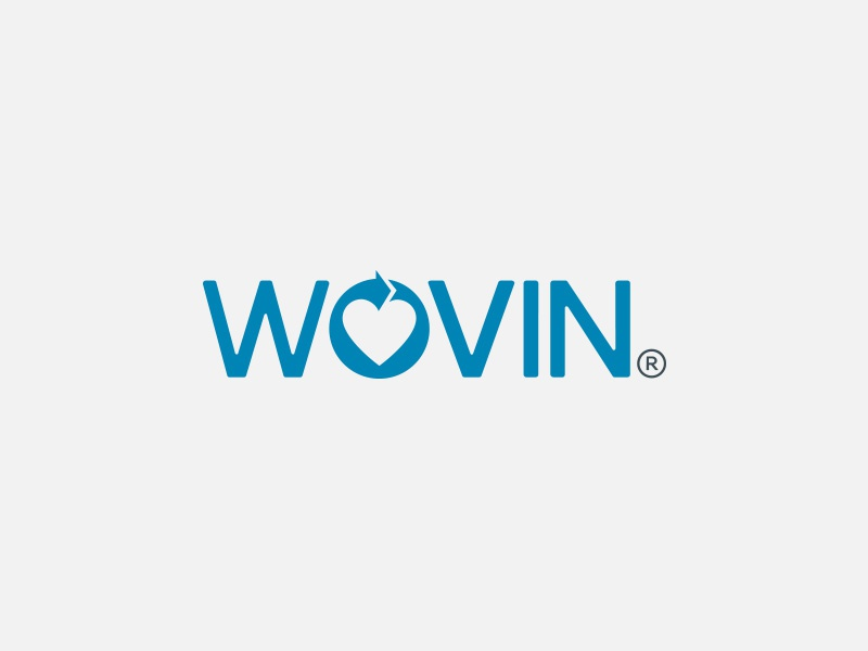 Wovin® clothes clothing recyle recycling textile donate charity simple minimal wordmark logo negative space
