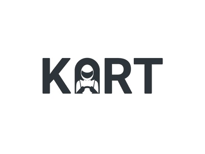 Kart wordmark clever minimal simple racer racing kart