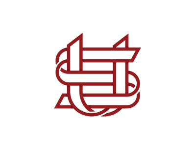 U and S monogram art line simple mark letter monogram us