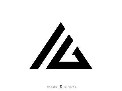 AG Monoram monogram simple lineart letter a