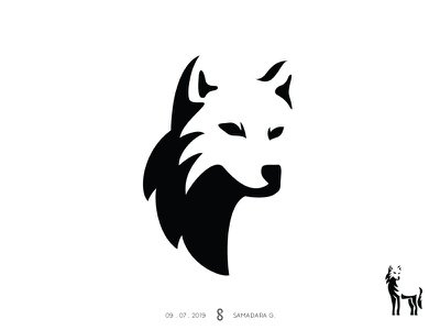 Wolf Logo illustration minimal simple wolf logo logo mark animal solutions web face wolf