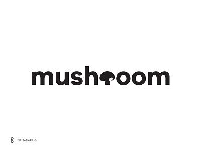 Mushroom Verbicon/Wordasimage illustration design mark typography logo simple letter word vegetable wordasimage verbicon mushroom