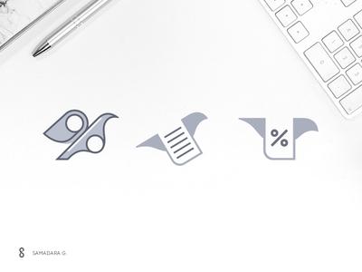 Logo mark for a tax services company minimal design brand money accounts revenue fly symbol mark logo simple bird pigeon dove service tax
