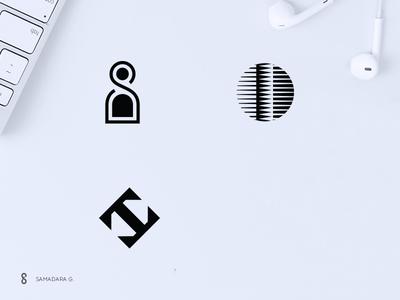Logo-mark Exploration monogram minimal letter mark logo person team hr simple ict services outsource company bpo