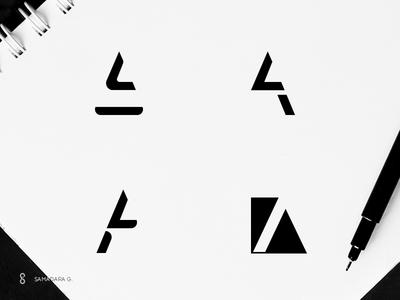 LA Monogram minimal simple branding logo graphicdesign samadaraginige samadara monogram mark letter