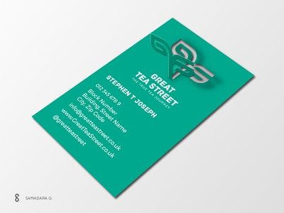 Tear Half-way Business Card Concept tealeaf tea tear businesscard logo design minimal simple