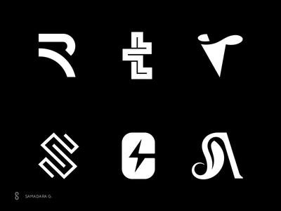 Letter-marks Collection letter-mark letter graphics minimal simple logodesign mark logo predesigned readymade buy sale