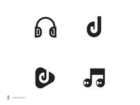 DJ Logo mark exploration