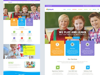 I'm happy to share with you Kids landing page.