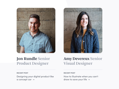 Team Widget font about team website post blog post ux article blog type web ui design