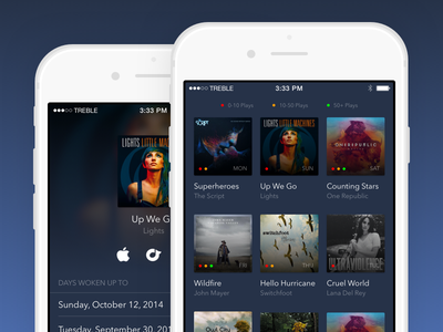New App Concept iphone music album grid mobile ios design