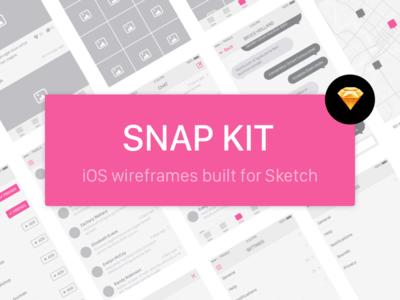 Snap Kit - Free iOS Wireframe Kit free resource kit wireframe app mobile design ui ios