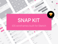 Snap Kit - Free iOS Wireframe Kit