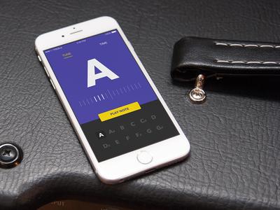 Tuner/Metronome App Concept concept music tuner metronome time tune app mobile design ui ios