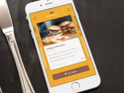 Best Burger - Silly App Concept concept phone mobile ios fun silly burger app ui design