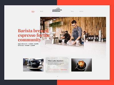 Landing Page - DailyUI 003 sintony playfair coffee website page landing design daily ui dailyui 003